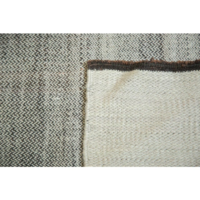 """1980s Vintage Flatwoven Reversible Wool Rug - 4'2"""" X 6'5"""" For Sale - Image 5 of 8"""