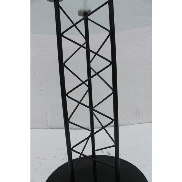 Italian Sculptural Pedestal Base Round Dining Table For Sale - Image 5 of 8