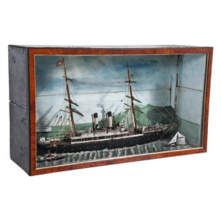 Circa 1900 San Francisco Bay American Cased Nautical Diorama