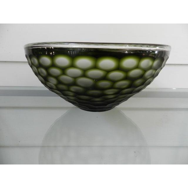 GuildMaster Gogli Chiseled Green Bowl For Sale - Image 4 of 4