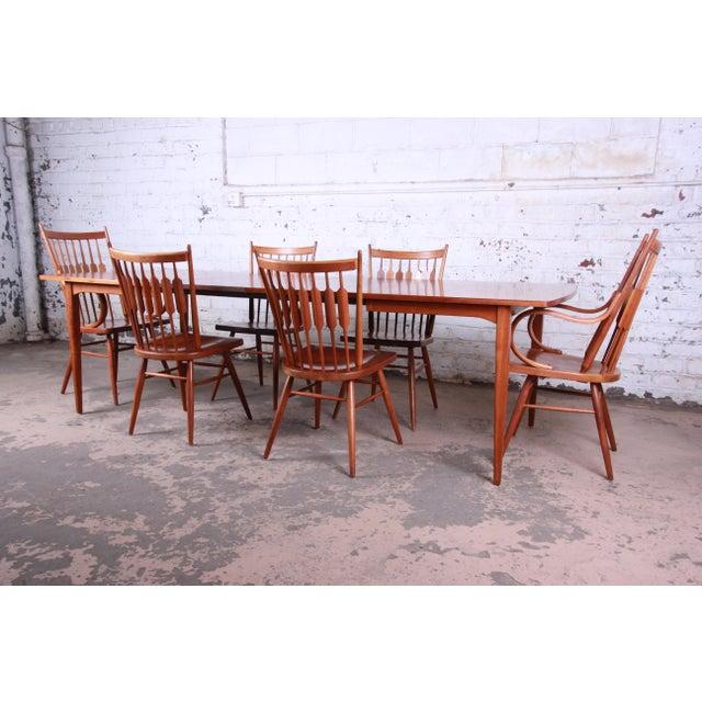 Mid-Century Modern Kipp Stewart for Drexel Declaration Mid-Century Modern Walnut Dining Set For Sale - Image 3 of 13