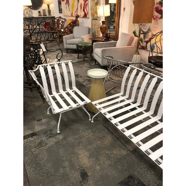Mid-Century Garden Sofa and Chair Set - 2 Pc. Set For Sale - Image 4 of 5
