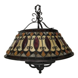 Spanish Revival Stained Glass Pendant Lamp