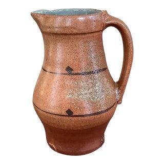 1985 Handmade Contemporary Ceramic Pitcher For Sale