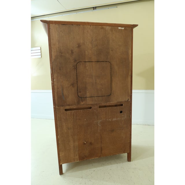 Stickley Arts & Crafts Mission Cherry Tv Armoire For Sale - Image 9 of 13