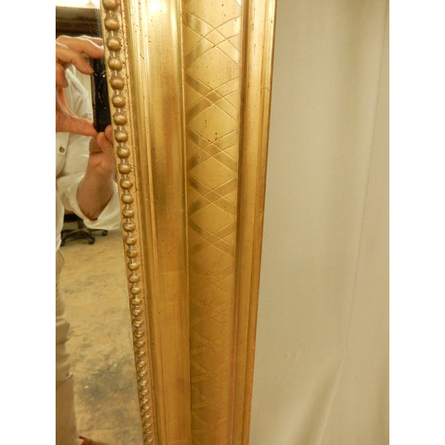 Traditional 19th Century Rectangular Louis Philippe Gilt Mirror For Sale - Image 3 of 8