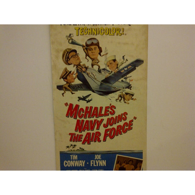 """Vintage """"Mchales Navy Joins the Air Force"""" 1965 Movie Poster For Sale - Image 4 of 6"""