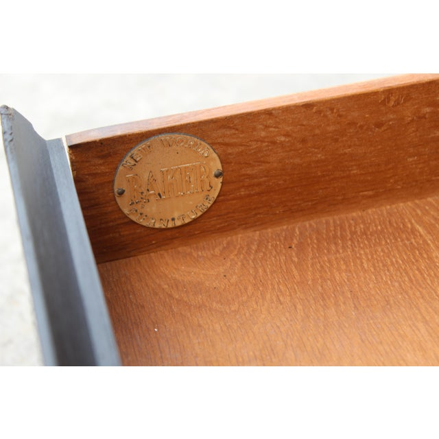 Baker Furniture Company Mid-Century Baker Walnut End Tables - a Pair For Sale - Image 4 of 13