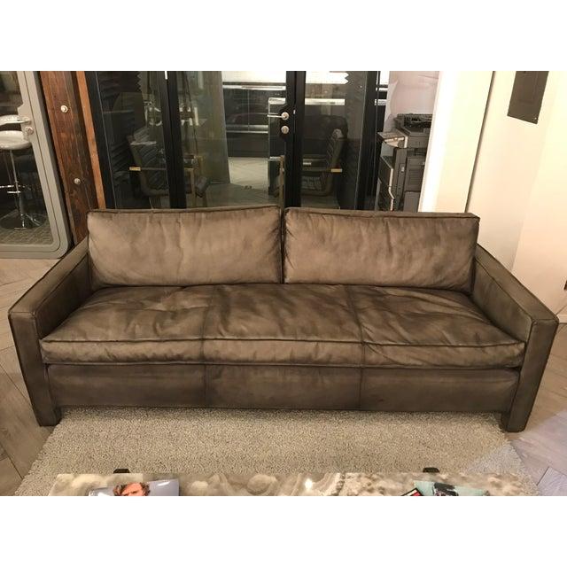 Rustic Leather Sofa