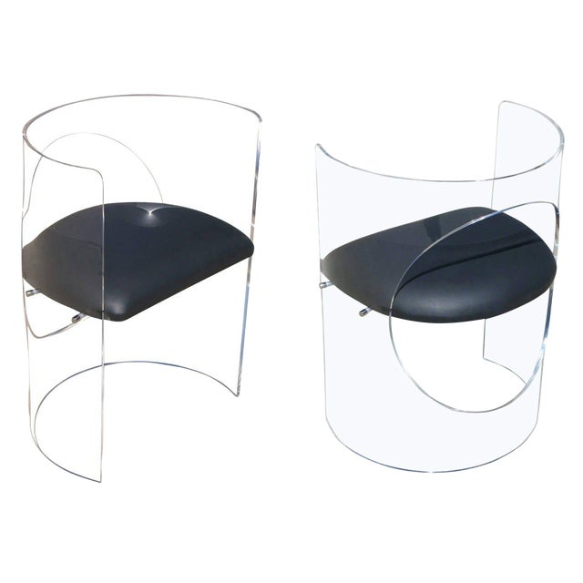 Charles Hollis Jones 1960s Style Designed Lucite Chair For Sale