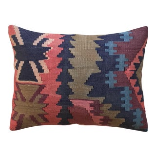Navy & Pink Kilim Pillow