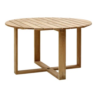 Cane-Line Endless Round Dining Table, Medium For Sale