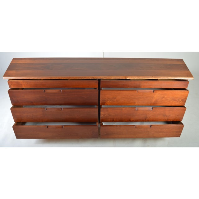 Mid-Century Modern Mid-Century George Nakashima Eight-Drawer Chest of Drawers-Dresser in Walnut For Sale - Image 3 of 7