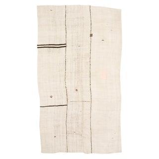 Vintage White Turkish Hemp Kilim Rug- 7′3″ × 13′3″ For Sale