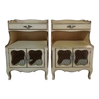 Mid 20th Century Ro-El French Provincial Nightstands- a Pair For Sale