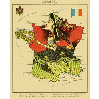 1869 Geographic Fun: France For Sale