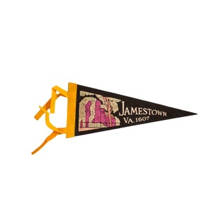 Vintage Jamestown, VA Felt Flag