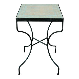 Moroccan Mosaic Tile Bistro Table For Sale