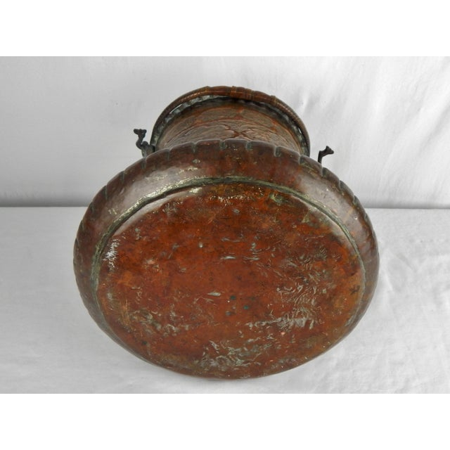 Large Moorish Copper & Pewter Pail For Sale - Image 9 of 10