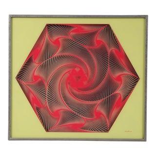"""""""Malina"""" Signed Optical Artwork, 1960"""