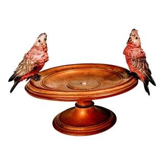 Antique Austrian Bronze Bergman Bird Bowl For Sale
