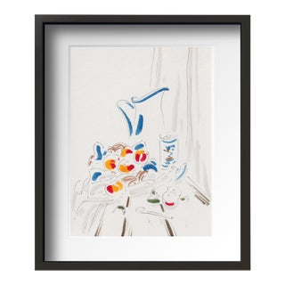 """Daily Still Life 3 "" Contemporary Still Life Drawing by Tang Wen Ching, Framed For Sale"