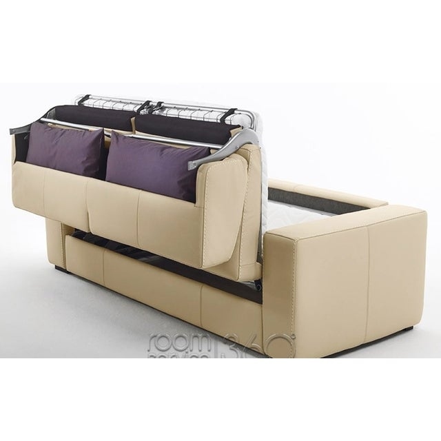 Capri Italian Leather Sleeper Sofa - Image 4 of 7