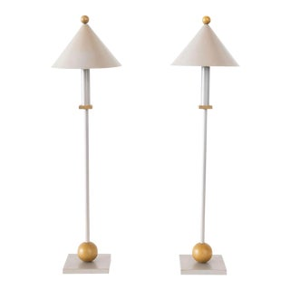 Vintage Sonneman Lamps-A Pair For Sale