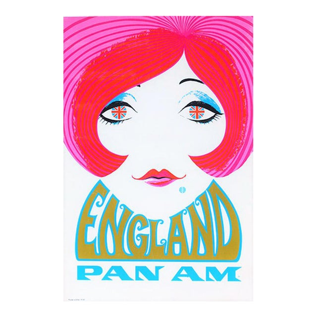 Reproduction Pan Am England Travel Poster - Image 1 of 4
