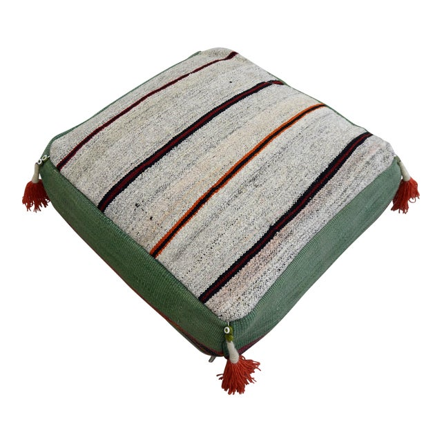 Turkish Hand Woven Floor Cushion Cover For Sale