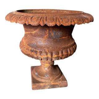 Midcentury Iron Finish Urn For Sale