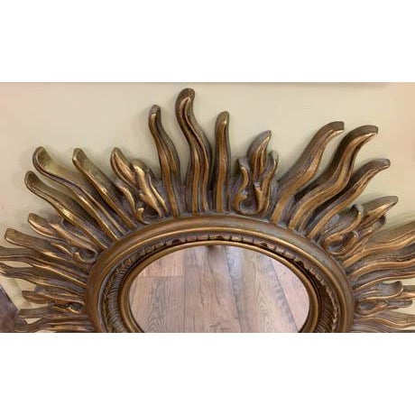 Mid-Century Modern Vintage Starburst Mirror For Sale - Image 3 of 6