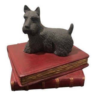 Scottie on Books Bookend/Paperweight For Sale