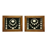 Image of Antique Grand Tour Intaglios in Fruitwood Frames - a Pair For Sale