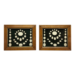 Antique Grand Tour Intaglios in Fruitwood Frames - a Pair For Sale