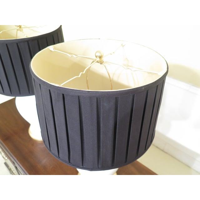 Ralph Lauren Ralph Lauren Crackle Porcelain Modern Lamps- A Pair For Sale - Image 4 of 9