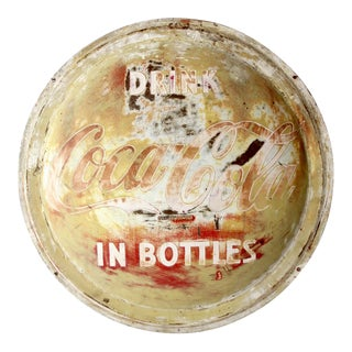 Vintage Coca-Cola Button Sign For Sale