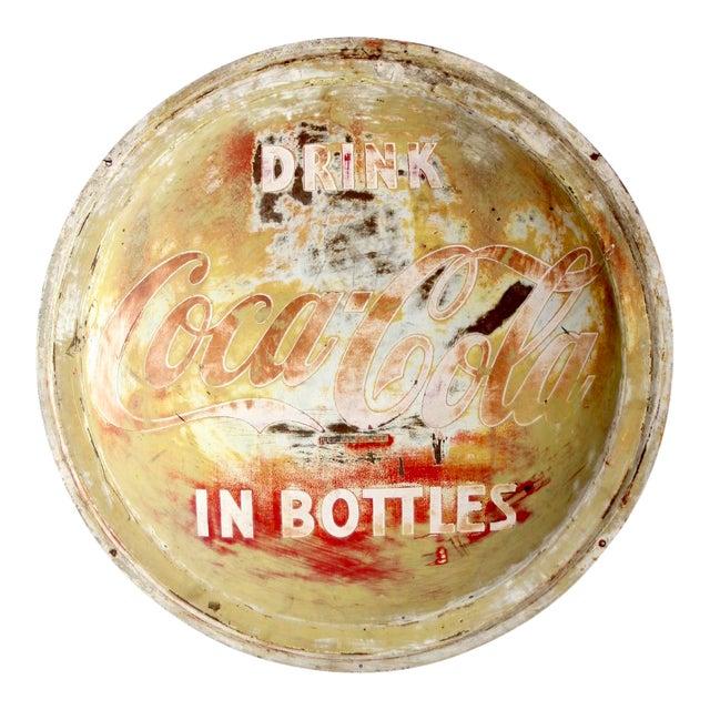 Vintage Coca-Cola Button Sign For Sale
