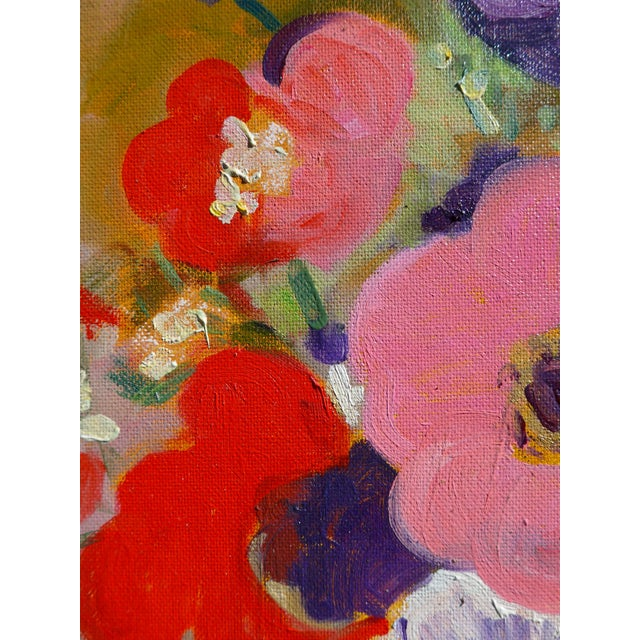 Large - French Bouquet of Flowers, Oil Painting For Sale In Los Angeles - Image 6 of 13