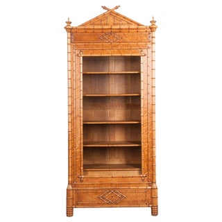 French 19th Century Faux Bamboo Bibliothèque For Sale