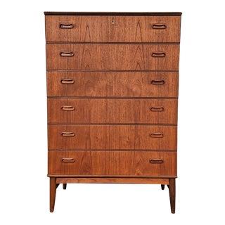 Vintage Danish Mid Century Teak Dresser - Vaskebjorn For Sale