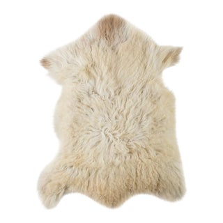 "Contemporary Long Wool Sheepskin Pelt/Handmade Rug - 2'0""x3'0"" For Sale"