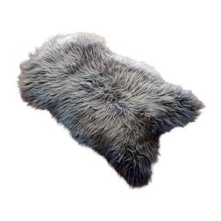 Contemporary Moon Gray Sheepskin Rug/Throw For Sale