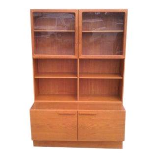 1960s Danish Modern Vintage Mid Century Modern Kofod Larsen Teak Credenza Cabinet For Sale
