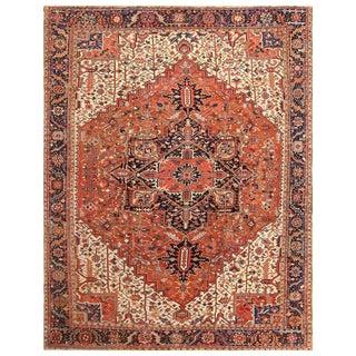 Antique Persian Heriz Rug - 12′2″ × 15′4″ For Sale