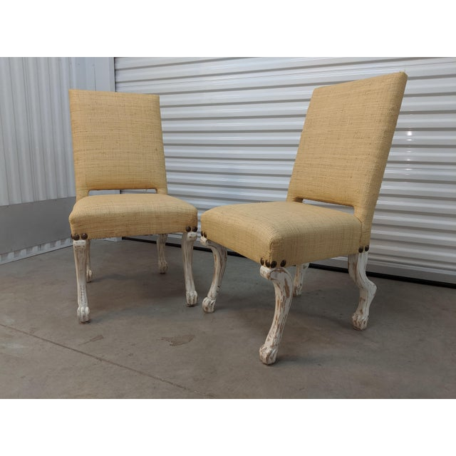Hollywood Regency John Dickinson Style Chairs- A Pair For Sale - Image 3 of 12