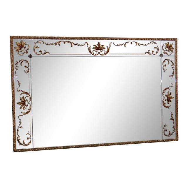 Regency Style Eglomise Mirror For Sale