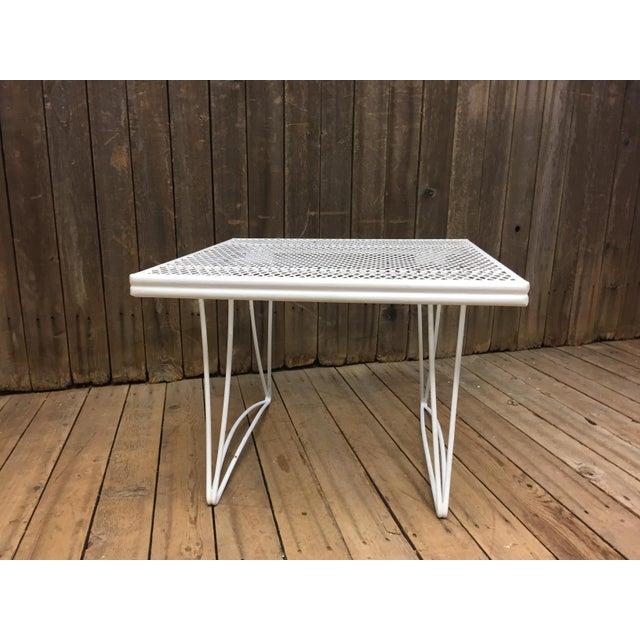 Mid Century Modern White Homecrest Side Table - Image 7 of 11