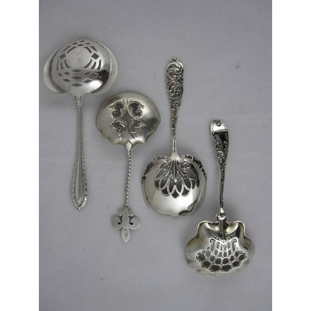 Victorian Sterling Silver Pierced Bon-Bon Servers - Set of 4 - Image 3 of 10