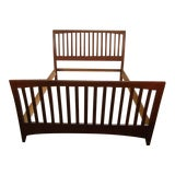 Image of Traditional Kincaid Solid Cherry Queen Size Bedframe For Sale